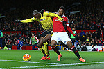 Allan Nyom of Watford battles Anthony Martial of Manchester United - Barclay's Premier League - Manchester United vs Watford - Old Trafford - Manchester - 02/03/2016 Pic Philip Oldham/SportImage