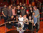 Katrina Yaukey with chorus cast members during the Broadway Opening Night Actors' Equity Gypsy Robe Ceremony honoring Katrina Yaukey  for  'Natasha, Pierre & The Great Comet Of 1812' at The Imperial Theatre on November 14, 2016 in New York City.