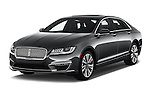 2017 Lincoln MKZ Hybrid-Select 4 Door Sedan Angular Front stock photos of front three quarter view