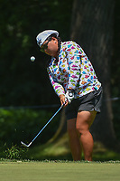 Christina Kim (USA) chips on to 12 during round 2 of the 2018 KPMG Women's PGA Championship, Kemper Lakes Golf Club, at Kildeer, Illinois, USA. 6/29/2018.<br /> Picture: Golffile | Ken Murray<br /> <br /> All photo usage must carry mandatory copyright credit (&copy; Golffile | Ken Murray)