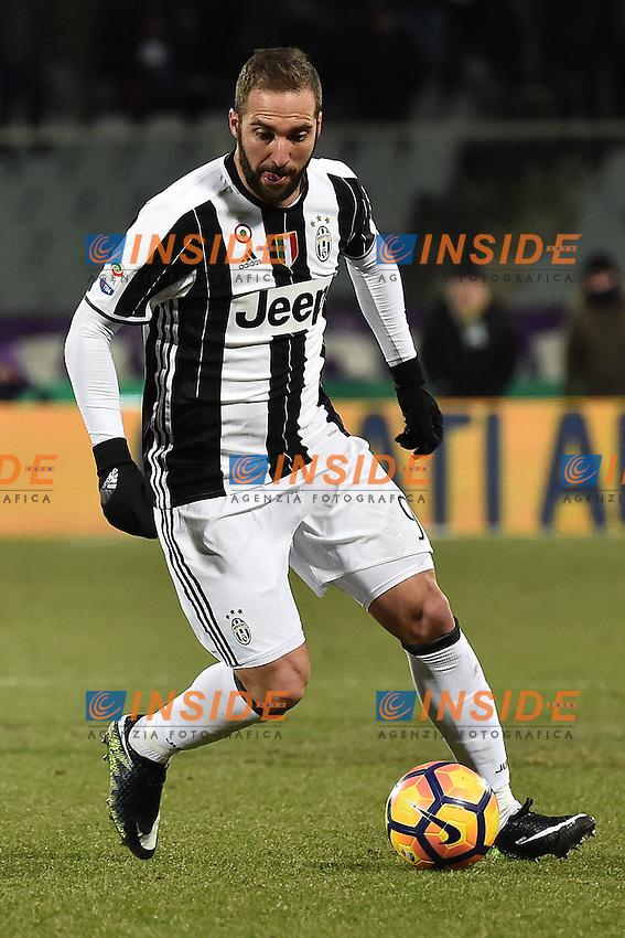 Gonzalo Higuain Juventus <br /> Firenze 15-01-2017 Stadio Artemio Franchi Football Campionato Serie A 2016/2017 <br /> Fiorentina - Juventus <br /> Foto Andrea Staccioli / Insidefoto