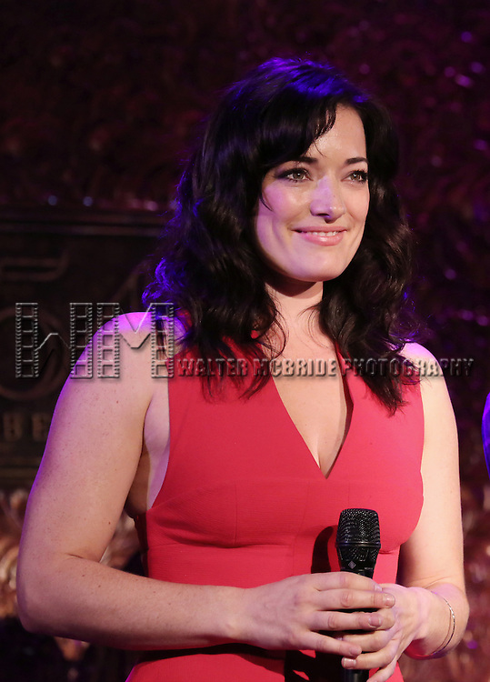Laura Michelle Kelly performing in Jeremy Jordan's 'Breaking Character' at 54 Below on November 12, 2014 in New York City.