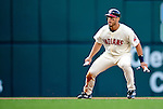5 September 2009: Cleveland Indians' designated hitter Travis Hafner in action against the Minnesota Twins at Progressive Field in Cleveland, Ohio. The Indians fell to the Twins 4-1 in the second game of their three-game weekend series. Mandatory Credit: Ed Wolfstein Photo