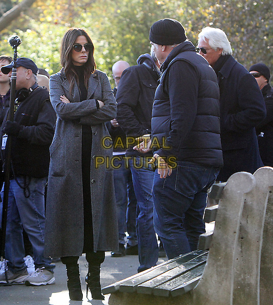 NEW YORK, NY -  NOVEMBER 07: Director Gary Ross and Sandra Bullock  on the set of Ocean's 8 in New York's Central Park on November 07, 2016. <br /> CAP/MPI/RW<br /> &copy;RW/MPI/Capital Pictures