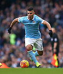 Sergio Aguero of Manchester City - Barclay's Premier League - Manchester City vs Aston Villa - Etihad Stadium - Manchester - 05/03/2016 Pic Philip Oldham/SportImage