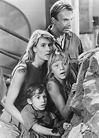 Jurassic Park (1993)<br /> Laura Dern, Sam Neill, Joseph Mazzello &amp; Ariana Richards<br /> *Filmstill - Editorial Use Only*<br /> CAP/KFS<br /> Image supplied by Capital Pictures