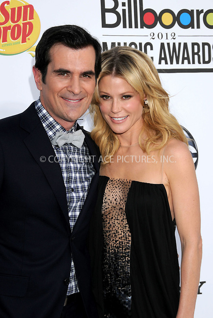 WWW.ACEPIXS.COM . . . . .  ..... . . . . US SALES ONLY . . . . .....May 20 2012, Las Vegas....Ty Burrell and Julie Bowen at the 2012 Billboard Awards held at the MGM Hotel and Casino in on May 20 2012 in Las Vegas ....Please byline: FAMOUS-ACE PICTURES... . . . .  ....Ace Pictures, Inc:  ..Tel: (212) 243-8787..e-mail: info@acepixs.com..web: http://www.acepixs.com