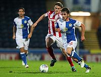Blackburn Rovers' Jack Doyle gets away from Stoke City U23s' Mark Waddington <br /> <br /> Photographer Andrew Kearns/CameraSport<br /> <br /> The EFL Checkatrade Trophy - Blackburn Rovers v Stoke City U23s - Tuesday 29th August 2017 - Ewood Park - Blackburn<br />  <br /> World Copyright &copy; 2018 CameraSport. All rights reserved. 43 Linden Ave. Countesthorpe. Leicester. England. LE8 5PG - Tel: +44 (0) 116 277 4147 - admin@camerasport.com - www.camerasport.com