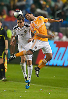 CARSON, CA - November 20, 2011: LA Galaxy defender Todd Dunivant (2) and Houston Dynamo midfielder Danny Cruz (5) during the MLS Cup match between LA Galaxy and Houston Dynamo at the Home Depot Center in Carson, California. Final score LA Galaxy 1, Houston Dynamo 0.