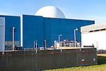 White dome of pressurised water reactor PWR  of Sizewell A nuclear power station, near Leiston, Suffolk, England