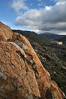 Climbing above El Capitan Reservoir near San Diego.