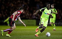 Bolton Wanderers' Josh Emmanuel breaks away from Lincoln City's Conor Coventry (left) <br /> <br /> Photographer Andrew Kearns/CameraSport<br /> <br /> The EFL Sky Bet League One - Lincoln City v Bolton Wanderers - Tuesday 14th January 2020  - LNER Stadium - Lincoln<br /> <br /> World Copyright © 2020 CameraSport. All rights reserved. 43 Linden Ave. Countesthorpe. Leicester. England. LE8 5PG - Tel: +44 (0) 116 277 4147 - admin@camerasport.com - www.camerasport.com