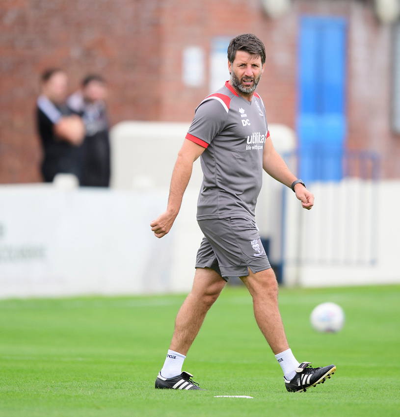 Lincoln City manager Danny Cowley during the pre-match warm-up<br /> <br /> Photographer Chris Vaughan/CameraSport<br /> <br /> Football Pre-Season Friendly (Community Festival of Lincolnshire) - Lincoln City v Lincoln United - Saturday 6th July 2019 - The Martin & Co Arena - Gainsborough<br /> <br /> World Copyright © 2018 CameraSport. All rights reserved. 43 Linden Ave. Countesthorpe. Leicester. England. LE8 5PG - Tel: +44 (0) 116 277 4147 - admin@camerasport.com - www.camerasport.com