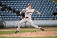 Relief pitcher Dylan Harley (47) of the South Carolina Gamecocks earned the 12-7 win in a game against the Furman Paladins on Tuesday, March 19, 2019, at Fluor Field at the West End in Greenville, South Carolina. (Tom Priddy/Four Seam Images)