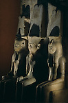Statue of Thutmosis I, Queen Ahmose and God Amun; reused by Tutankhamun;Tutankhamun and the Golden Age of the Pharaohs, Page 101