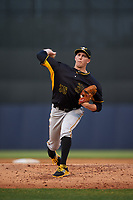 Bradenton Marauders starting pitcher Gage Hinsz (35) delivers a pitch during a game against the Tampa Yankees on April 15, 2017 at George M. Steinbrenner Field in Tampa, Florida.  Tampa defeated Bradenton 3-2.  (Mike Janes/Four Seam Images)