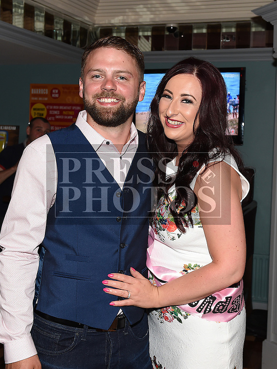 Karen Devitt celebrating her 30th birthday and recent engagement with Paul Heatherington in Barocco in the Westcourt hotel. Photo:Colin Bell/pressphotos.ie