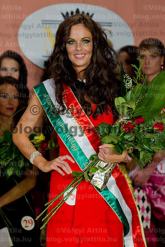 Nora Keseru participates the Miss Hungary beauty contest held in Budapest, Hungary on December 29, 2011. ATTILA VOLGYI