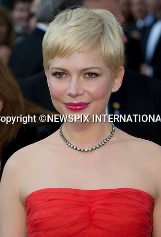 "OSCARS 2012 - MICHELLE WILLIAMS.84th Academy Awards arrivals, Kodak Theatre, Hollywood, Los Angeles_26/02/2012.Mandatory Photo Credit: ©Dias/Newspix International..**ALL FEES PAYABLE TO: ""NEWSPIX INTERNATIONAL""**..PHOTO CREDIT MANDATORY!!: NEWSPIX INTERNATIONAL(Failure to credit will incur a surcharge of 100% of reproduction fees)..IMMEDIATE CONFIRMATION OF USAGE REQUIRED:.Newspix International, 31 Chinnery Hill, Bishop's Stortford, ENGLAND CM23 3PS.Tel:+441279 324672  ; Fax: +441279656877.Mobile:  0777568 1153.e-mail: info@newspixinternational.co.uk"