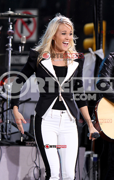 May 01, 2012 Carrie Underwood performs at  the Good Morning America Concert Series to promote her new CD Blown Away in New York City. Credit: RW/MediaPunch Inc.