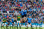 David Moran Kerry in action against Eric Lowndes and  Brian Fenton Dublin at the National League Final in Croke Park on Sunday.