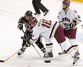 NU ?, Brian Boyle, Mike Brennan - The Boston College Eagles defeated Northeastern University Huskies 5-3 on Saturday, November 19, 2005, at Kelley Rink in Conte Forum at Chestnut Hill, MA.