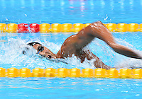 August 04, 2012..Oussama Mellouli competes in Men's 1500m Freestyle Final at the Aquatics Center on day eight of 2012 Olympic Games in London, United Kingdom.