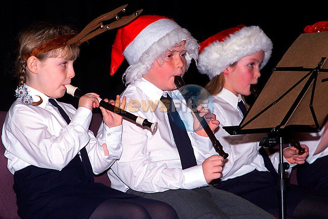 Junior members of the Loudes Brass Band playing at the bands Christmas concent in the arts centre..Pic Tony Campbell/Newsfile