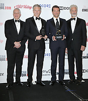 29 November 2018 - Beverly Hills, California - Rick Nicita, Mark Badagliacca, Bradley Cooper, Doug Darrow. 32nd American Cinematheque Award Presentation Honoring Bradley Cooper held at The Beverly Hilton Hotel.       <br /> CAP/ADM/PMA<br /> &copy;BT/ADM/Capital Pictures