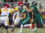 Torrance, CA 09/08/17 - Anthony Rugnetta (South #4) in action during the Hawthorne vs South Torrance CIF-SS non-conference Varsity football game at South Torrance High School.