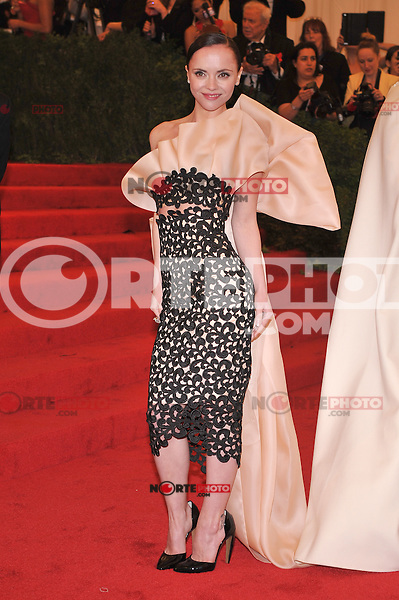 Christina Ricci at the 'Schiaparelli And Prada: Impossible Conversations' Costume Institute Gala at the Metropolitan Museum of Art on May 7, 2012 in New York City. ©mpi03/MediaPunch Inc.