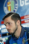 Getafe's Pablo Sarabia in press conference after La Liga match. April 16,2016. (ALTERPHOTOS/Acero)