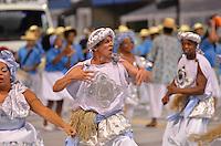 SAO PAULO, SP, 09 FEVEREIRO 2013 - CARNAVAL SP - AFOXE FILHOS DA COROA DE DADA  - Integrantes do grupo folclórico Afoxe Filhos da Coroa de Dada durante desfile no segundo dia do Grupo Especial no Sambódromo do Anhembi na região norte da capital paulista, nesta sabado, 09. FOTO:  LEVI BIANCO - BRAZIL PHOTO PRESS