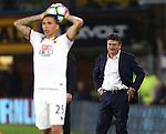 Walter Mazzarri manager of Watford looks dejected during the Premier League match at Turf Moor Stadium, Burnley. Picture date: September 26th, 2016. Pic Simon Bellis/Sportimage