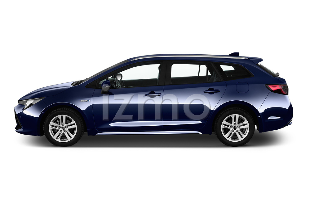 Car driver side profile view of a 2019 Toyota Corolla Touring Sports Dynamic 5 Door Wagon
