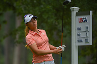 Danielle Kang (USA) watches her tee shot on 11 during round 1 of the U.S. Women's Open Championship, Shoal Creek Country Club, at Birmingham, Alabama, USA. 5/31/2018.<br /> Picture: Golffile   Ken Murray<br /> <br /> All photo usage must carry mandatory copyright credit (© Golffile   Ken Murray)
