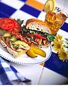 Ham, Avacado and Bacon Sandwich