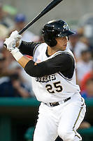 San Antonio Missions third baseman James Darnell #25 at bat the Texas League All Star Game played on June 29, 2011 at Nelson Wolff Stadium in San Antonio, Texas. The South All Star team defeated the North All Star team 3-2 and Darnell was awarded the MVP award. (Andrew Woolley / Four Seam Images)