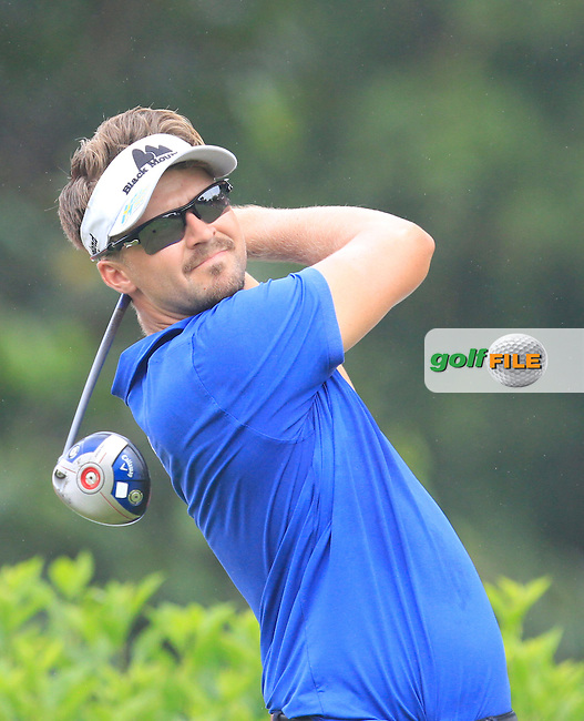 Rikard Karlberg (SWE) on the 7th tee during Round 3 of the CIMB Classic in the Kuala Lumpur Golf &amp; Country Club on Saturday 1st November 2014.<br /> Picture:  Thos Caffrey / www.golffile.ie