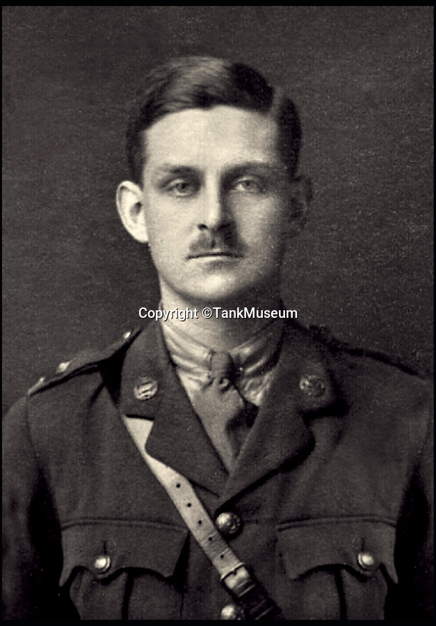 BNPS.co.uk (01202 558833)<br /> Pic: TankMuseum/BNPS<br /> <br /> Lt Clement Arnold.<br /> <br /> Moving and miraculous survivor from 100 years ago - fragile timepiece reveals a remarkable story of courage, death and unlikely friendship from the Western Front.<br /> <br /> An unlikely friendship between a British World War One tank commander and the German foe who saved his life has come to light 100 years after they first met on the battlefield.<br /> <br /> Lieutenant Clement Arnold, of the Tank Corps, had been in charge of a Whippet tank which ploughed through the German defences and wreaked havoc on their trenches at the Battle of Amiens on the 8/8/1918, before recieving a direct hit and catching fire, forcing the three man crew to bail out.<br /> <br /> The enraged German soldiers bayoneted to death the tank driver, Private W J Carnie, but before Lt Arnold suffered the same fate, German officer Ritter Ernst von Maravic stepped in and ordered that he and the tank's gunner were taken prisoner instead.<br /> <br /> As a gesture of gratitude, Lt Arnold gave von Maravic the prized  wristwatch given to him by his father, his most valuable possession.<br /> <br /> Amazingly the two foes then made contact and became friends in the 1930's when von Maravic returned the watch to Clement Arnold and even holidayed in Llandudno with the Arnold family. <br /> <br /> Yesterday Lt Arnold's nephew Jolyon(83) visited the Tank Museum museum in Dorset to retell the astonishing story.