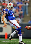 21 September 2008: Buffalo Bills' punter Brian Moorman in action against the Oakland Raiders at Ralph Wilson Stadium in Orchard Park, NY. The Bills defeated the Raiders 24-23 to mark their first 3-0 start of the season since 1992...Mandatory Photo Credit: Ed Wolfstein Photo