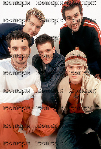 N'Sync - L-R: Chris Kirkpatrick, Lance Bass, J C Chasez, Joey Fatone, Justin Timberlake - exclusively photographed in London UK - 16 Feb 2000.  Photo credit: George Chin/IconicPix