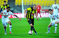 Mitch Nichols in action during the A-League football match between Wellington Phoenix and Western Sydney Wanderers at Westpac Stadium in Wellington, New Zealand on Saturday, 3 November 2018. Photo: Dave Lintott / lintottphoto.co.nz