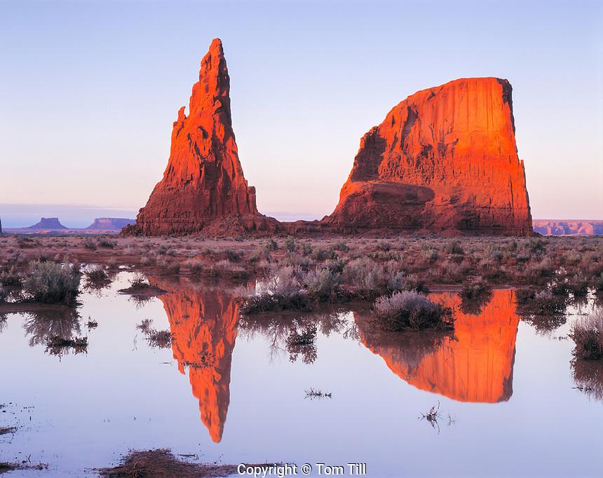 Refelections at the Dancing Rocks, Navajo Reseration, Arizona