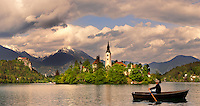 Bled Lake with the island church - Slovenia