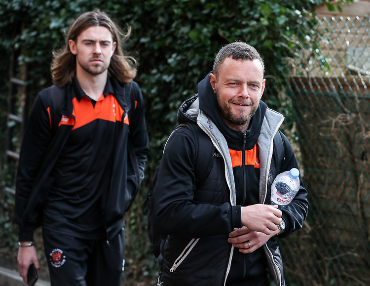 Blackpool's Jay Spearing arriving at the stadium  <br /> <br /> Photographer Andrew Kearns/CameraSport<br /> <br /> The EFL Sky Bet League Two - Bristol Rovers v Blackpool - Saturday 2nd March 2019 - Memorial Stadium - Bristol<br /> <br /> World Copyright © 2019 CameraSport. All rights reserved. 43 Linden Ave. Countesthorpe. Leicester. England. LE8 5PG - Tel: +44 (0) 116 277 4147 - admin@camerasport.com - www.camerasport.com