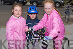 CYCLE; Ceri Leah O'Leary,Simon Moynihan and Leana O'Shea who cycled in the Bycle Day in Tralee on Saturday. ....   Copyright Kerry's Eye 2008