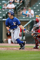 May 2, 2010:  Ryan Shealy of the Durham Bulls at bat during a game vs. the Rochester Red Wings at Frontier Field in Rochester, NY.  Rochester defeated Durham in extra innings by the score of 7-6.  Photo By Mike Janes/Four Seam Images