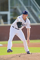 Chattanooga Lookouts starting pitcher Chris Reed (29) in action against the Montgomery Biscuits at AT&T Field on July 24, 2014 in Chattanooga, Tennessee.  The Biscuits defeated the Lookouts 6-4. (Brian Westerholt/Four Seam Images)