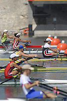 Beijing, CHINA,  Start of the JW1X, during the  2007. FISA Junior World Rowing Championships Shunyi Water Sports Complex. Wed. 08.08.2007  [Photo, Peter Spurrier/Intersport-images]..... , Rowing Course, Shun Yi Water Complex, Beijing, CHINA,